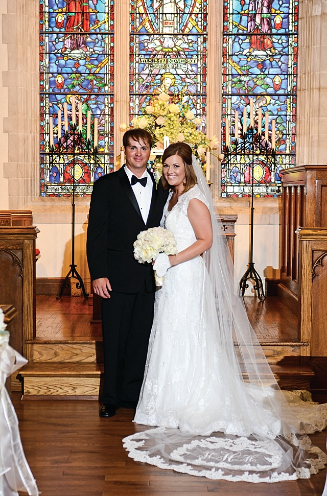 Wedding Veil Monogram - Classic Sewing