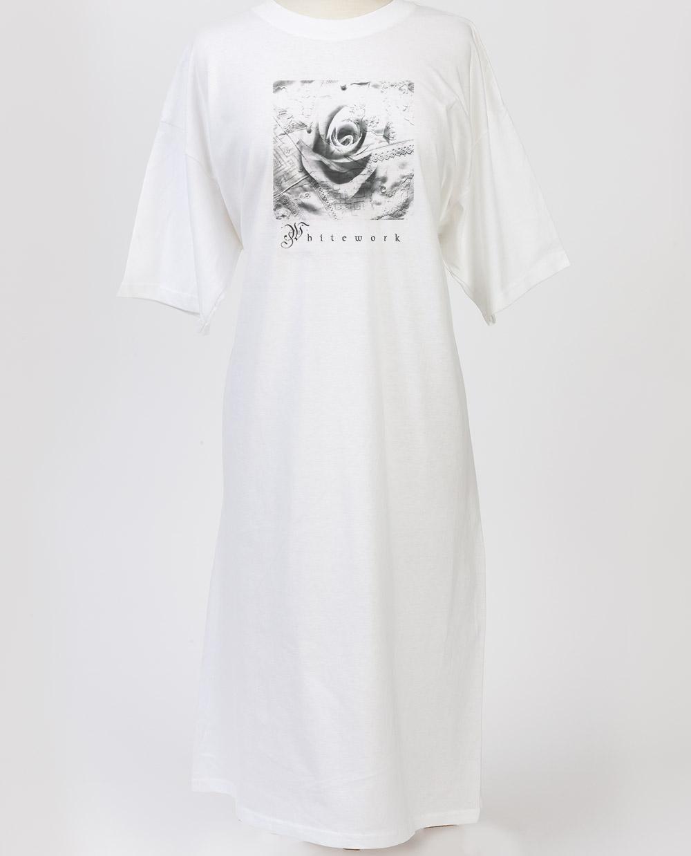 Night shirt - White works Collage Design