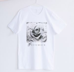 Short Sleeve - White works Collage Design