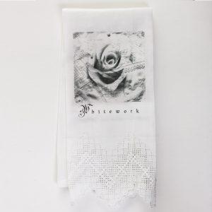 Tea Towel Whitework Collage