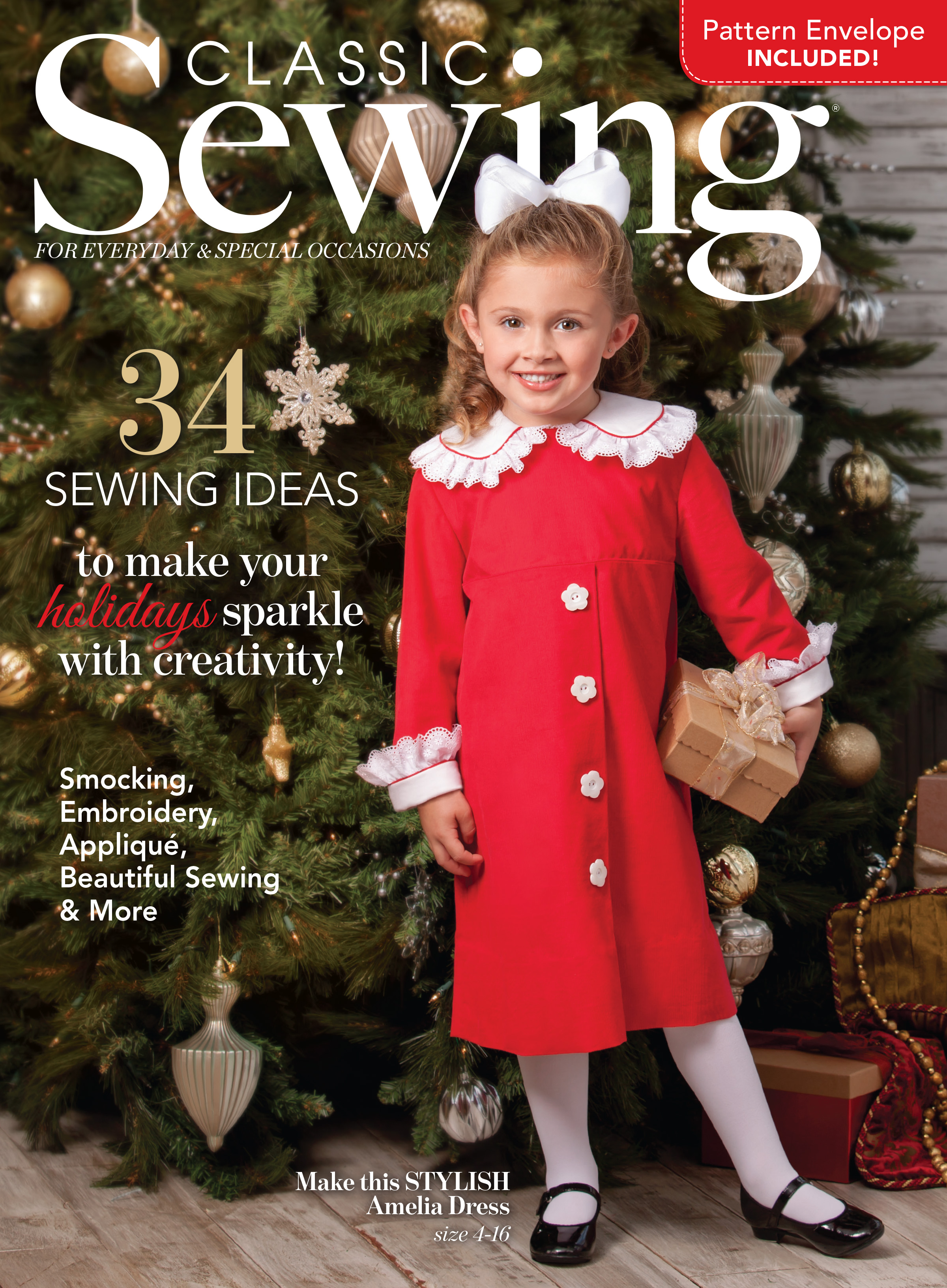 Classic Sewing Holiday Cover