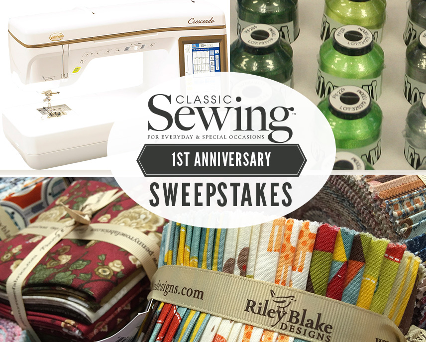 Classic Sewing 1st Anniversary Sweepstakes