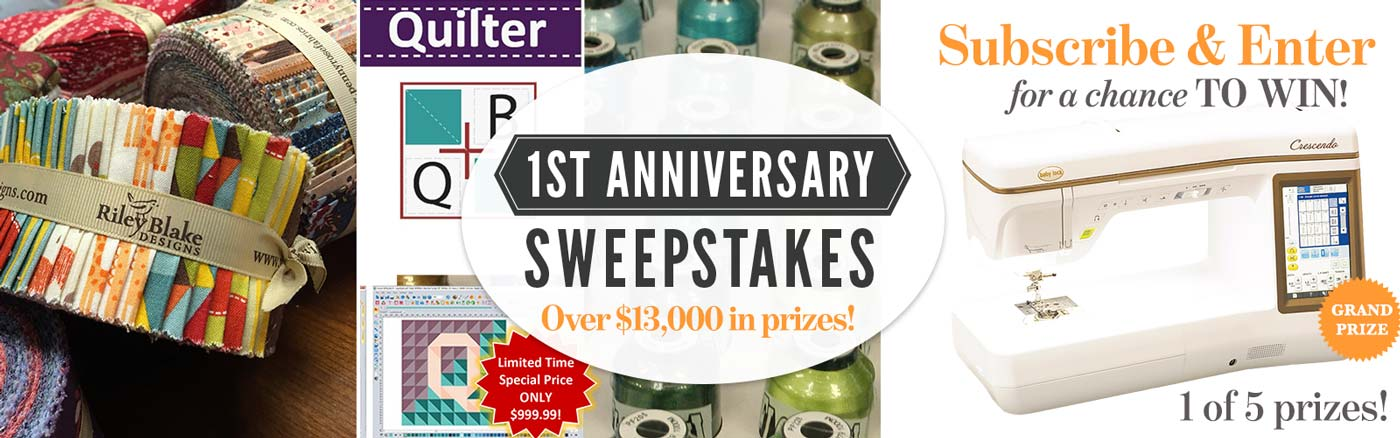 1st Anniversary Sweepstakes