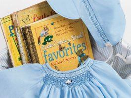 Lil Blue Lamb Boy's Day Gown & Cap