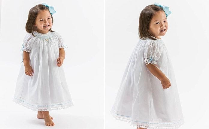 Aqua Easter Smocked Design by Kathy Dykstra