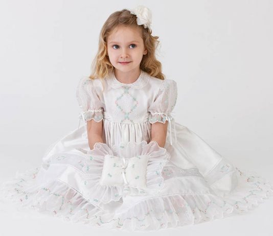 Precious Moment Flower Girl Dress and Ring Bearer Pillow