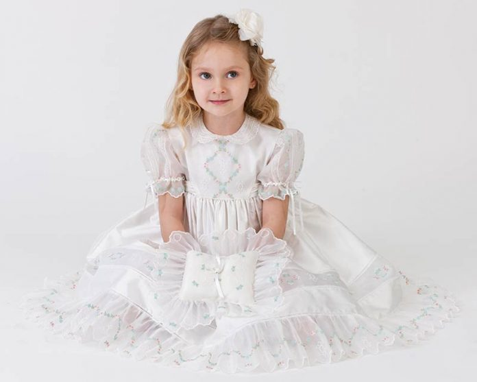 6d6f7e15a The Perfect Matching Flower Girl Dress and Ring Bearer Pillow ...