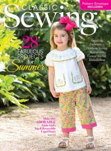Classic Sewing Summer 2017 cover