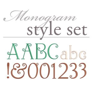 Simply Sweet Monogram Set