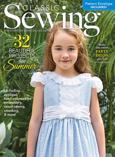 Classic Sewing Magazine - Summer 2018 Cover