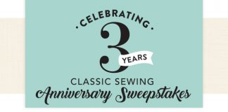 Celebrate 3 Years. Classic Sewing Anniversary Sweepstakes