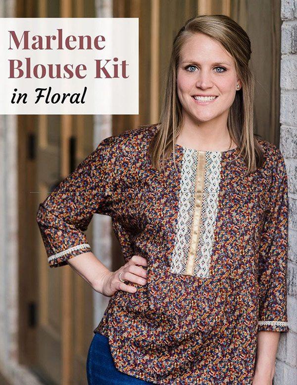 Marlene Blouse Floral Kit