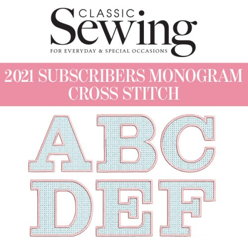 Classic Sewing Cross Stitch Monogram Set